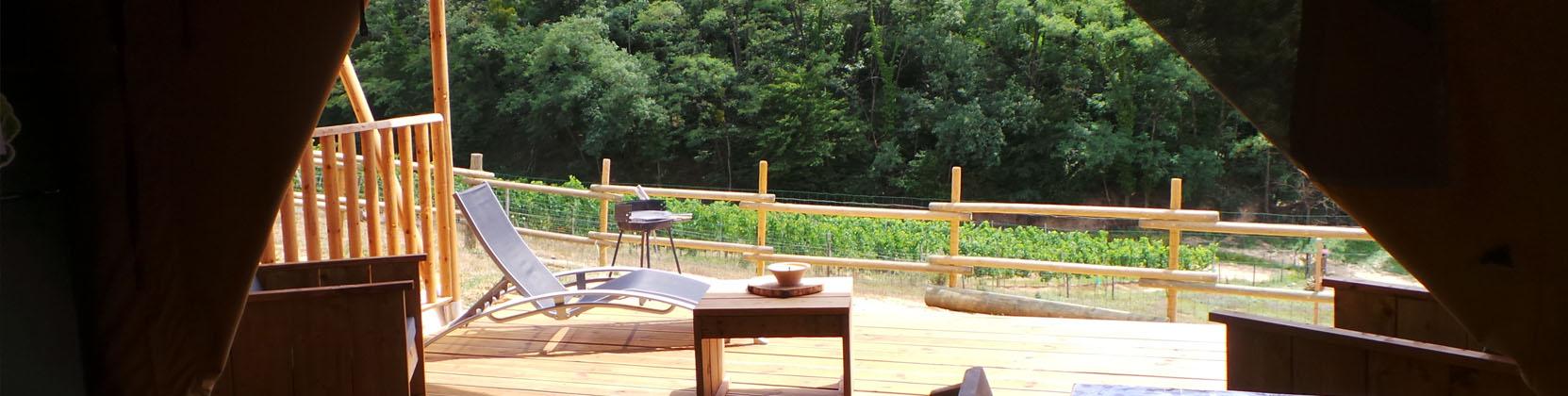 Lodge en pleine nature Retour aux Sources gironde location